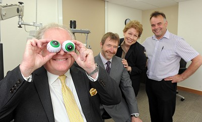 Sir Digby Jones opens opticians